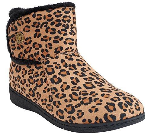 Vionische Vrouwen Verwennen Vanah Slipper Tan Leopard