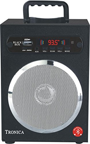 Blue Tooth GREY SPECTRUM Black Box MP3/SD Card/AUX/FM Speaker Powered By Rechargeable Battery