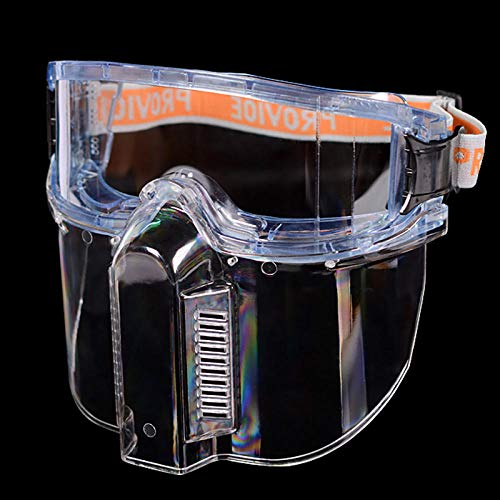 Transparent, full surface, head mounted protective film against splash protection, sanding paint, spray cutting…