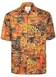 Artisan Outfitters Mens Palm Desert Batik Cotton Shirt (Small, Auburn Russet) A0214-73-S