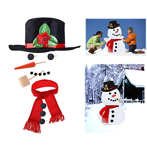 BERON Snowman Making Kit Christmas Kids Child Gifts Toy(14pcs) -