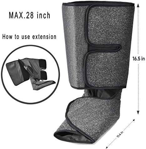 Foot and Calf Massager with Heat, Leg Air Massager for Circulation and Relaxation with Hand-held Controller 6 Modes 3 Intensities (with 2 Extensions) 51f0CyX 2BGUL