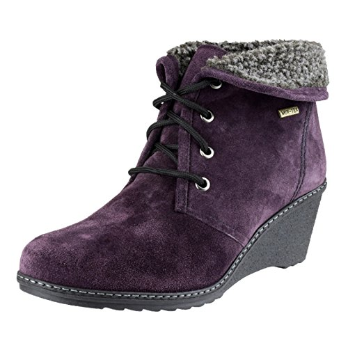 Cotswold - Leather - Purple - Slip-On Ladies Boots - Size 36 37 38 39 40 41 Violeta