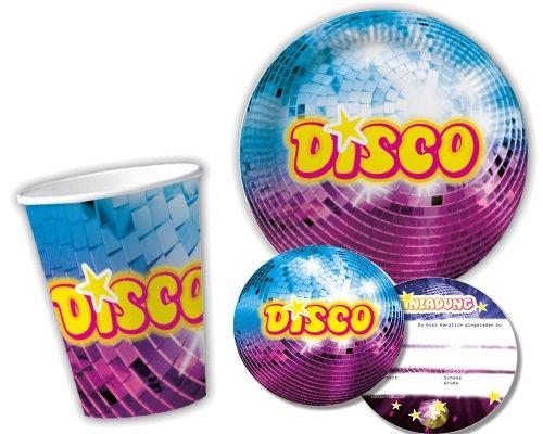 Elegant 10 Pappbecher Im * DISCO * Für Party Und Geburtstag Von DH Konzept //  Becher Partybecher Party Fete Set Mottoparty: Amazon.de: Spielzeug