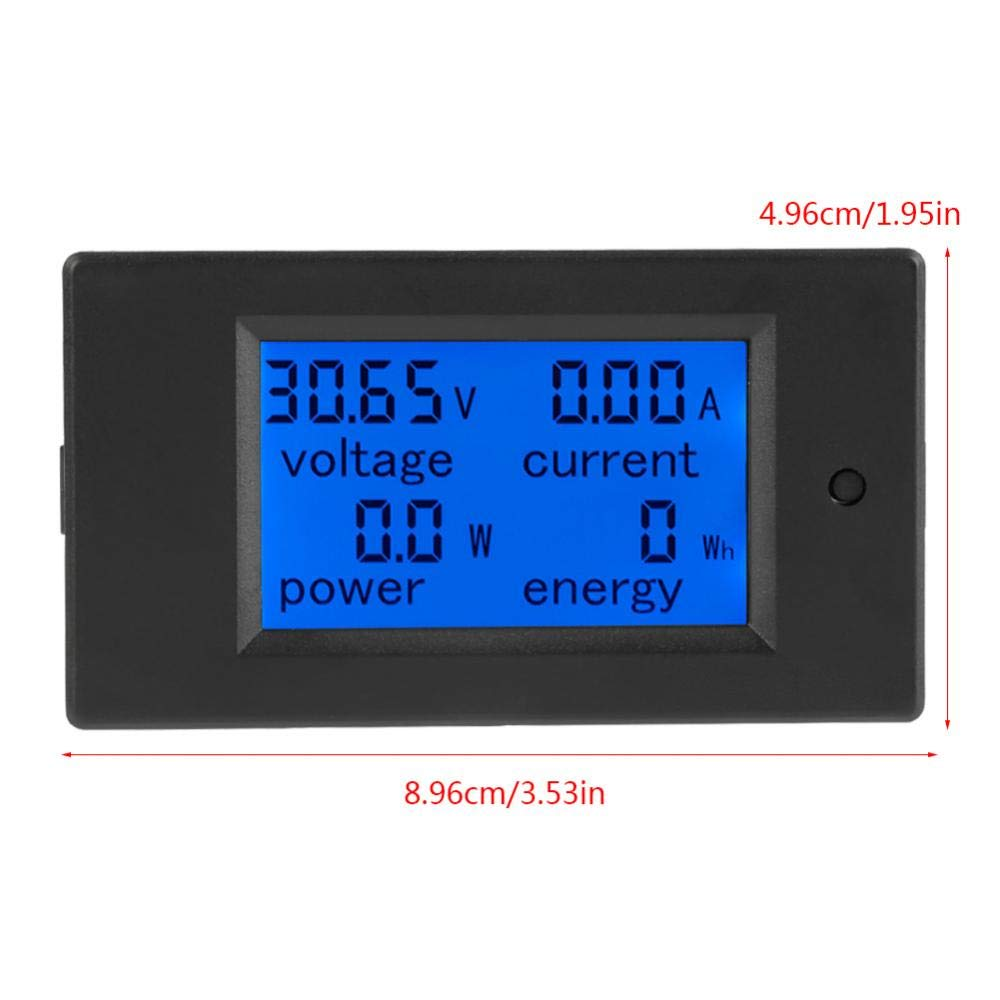 Akozon PEACEFAIR PZEM-051 LCD-Display DC 6,5-100 V Digital Electric Power Energy Spannung Stromz/ähler Power Energy Battery Monitor Stromst/ärke Meteranzeige mit integriertem Shunt 100A Splitter