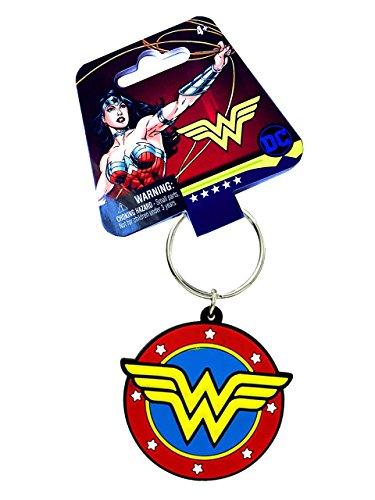 Wonder Woman Classic DC Comic Emblem Soft Touch Key Chain (Comic Key)