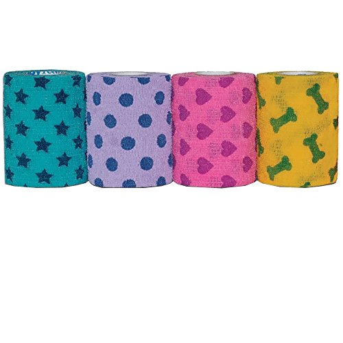 PetFlex-4-x-5-yds-Choose-a-color-YELLOW-Smiley-Faces-Print