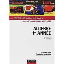 ALGEBRE LICENCE ETNBSP 1RE ANNEE 2EME EDITION