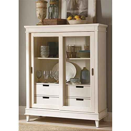BOWERY HILL Curio Cabinet in Rubbed Linen - Curio Hill
