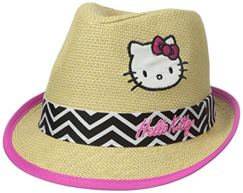 ABG-Accessories-Big-Girls-Hello-Kitty-Natural-Straw-Fedora
