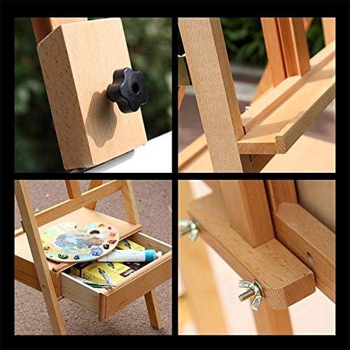 hongxinq Adjustable Height 54cm Tabletop Wood Studio H-Frame Easel Artist Painting Tool