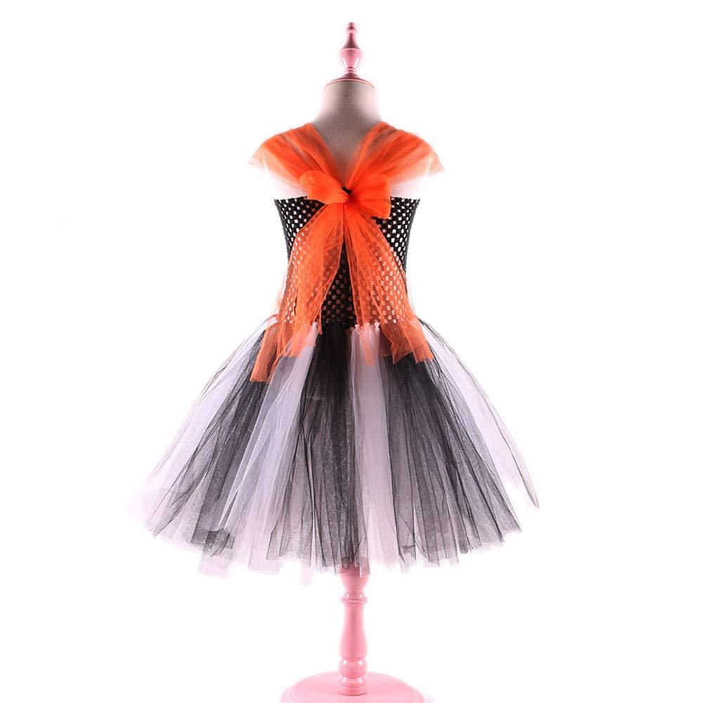 Baby Girls Halloween Outfits Tutu Skirt Pumpkin Dress up Party Dress Print Clothes 2-4T, Gray