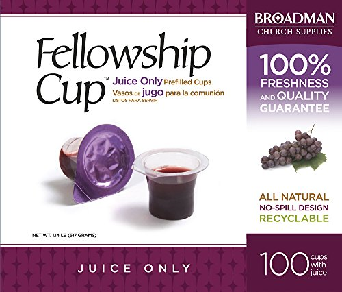 B and H Publishing Group 196976 Communion Fellowship Cup Prefilled Juice Only - Box of 100 from B&H Publishing Group