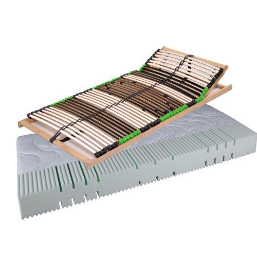 Dami_Balance Set Angebot Balance Matratze Komfortschaummatratze AIR Balance H2 und 7 Zonen Lattenrost Kopf (120 x 200 cm)