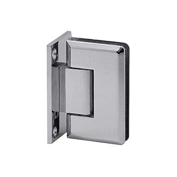 Modell:Modell 4-2 St/ück 180/° Glas-Glas-Scharnier Pendelscharnier Verchromt Glas-Halterung Dusche Duscht/ür Bad T/ürscharnier Beschlag Set Glanz