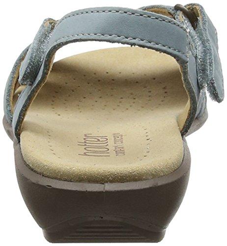 Sandales à Hotter Femme Bleu Talon Aigue marine Flare gwgC7qB