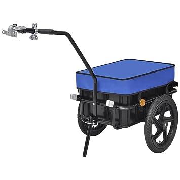 vidaXL Remolque de Carga para Bicicletas/Carro de Mano 70 L Azul: Amazon.es: Deportes y aire libre