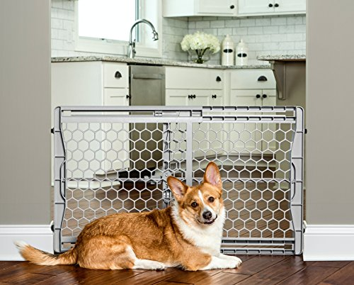 Carlson-Pet-Products-2323-DS-Easy-Fit-Plastic-Adjustable-26-42-Wide-Pet-Gate