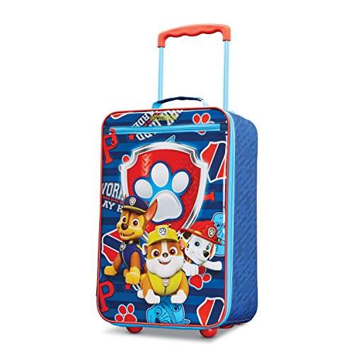 (American Tourister Kids' Paw Patrol Softside Upright 18, Red/Blue)