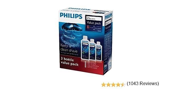 Philips HQ203/50 - Limpiador para afeitadoras (3 unidades, 300 ml ...