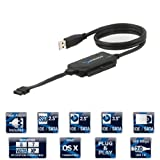 Sabrent USB-DSC5 2.5-/3.5-Inch Serial ATA or IDE to USB 2.0 Cable Converter Adapter with Power Supply