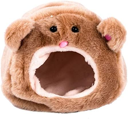 DTOWER Hamster Algodón, Hamsters Algodón Cálido Dormitorio Lindo Algodón Cálido Hamster Suministros para Mascotas Pequeño Animal Cama Colgante Casa Nido,Café,12 * 12 * 10cm: Amazon.es: Productos para mascotas