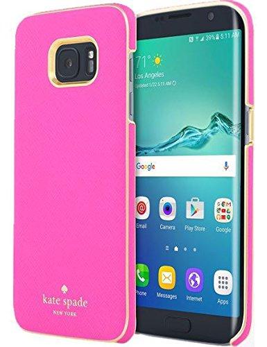 Kate Spade New York Wrap Case for Samsung Galaxy S7 Edge Saffiano Leather - Pink (Samsung Galaxy Edge 7 Vs Samsung Galaxy 7)