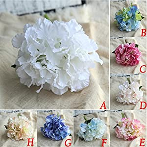 Yeefant Peony Floral Bouquet Artificial Flowers PE Bouquet Bridal Hydrangea for Home Garden Wedding Living Room Sweet Decor,1 Bouquet 6 Heads Peony Flower 5