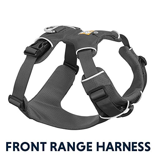 RUFFWEAR - Front Range, Everyday No Pull Dog Harness with Front Clip, Trail Running, Walking, Hiking, All-Day Wear, Twilight Gray (2017), Medium