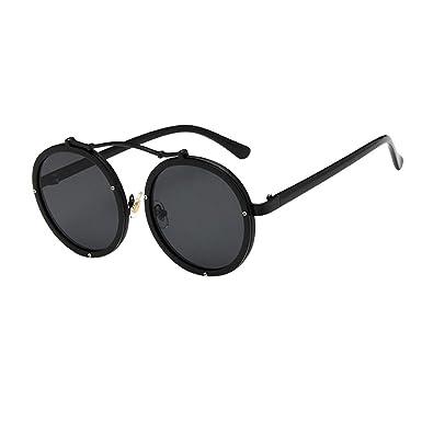 Beikoard - Gafas de Sol,Espejo Plano de Metal para Hombre y ...