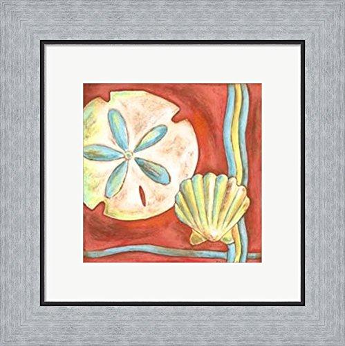Nancy Slocum Pop - Pop Shells IV by Nancy Slocum Framed Art Print Wall Picture, Flat Silver Frame, 16 x 15 inches