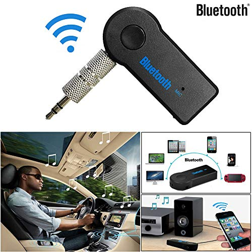 JDgoods Wireless Bluetooth Music Receiver 3.5mm AUX Audio Stereo Music Home Car Receiver Adapter Mic
