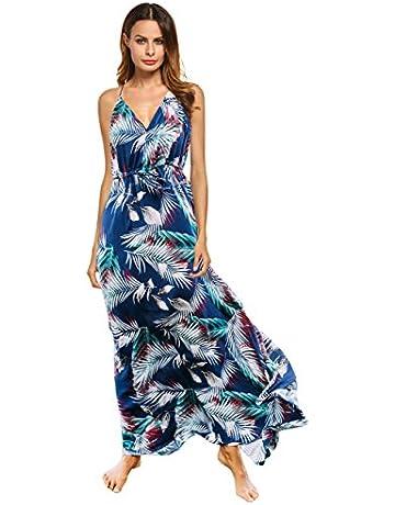 8e45b4152cdf5 Clearlove Women's Floral Casual Beach Party Maxi Dress