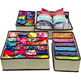 Sorbus Set of 4 Foldable Drawer Dividers, Storage Boxes, Closet Organizers, Under Bed Organizer