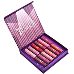 ❀The color gorgeous shades of Kethorina Lipstick provides rich color in a matte finish for all day wear without drying.              It goes on as a highly pigmented liquid and dries to a smooth matte finish. Lips are colored in velvet...