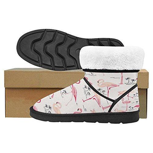 Designed 1 Multi Flamingo InterestPrint Womens Snow Boots Winter Comfort Boots Unique Bird IwP6HqxB
