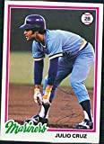 Signed Cruz, Julio (Seattle Mariners) 1978 Topps baseball Card in blue pen autographed