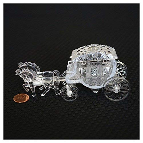 (Unbranded Royal Vintage Cinderella Horse and Carriage Coach Cake Topper Clear)