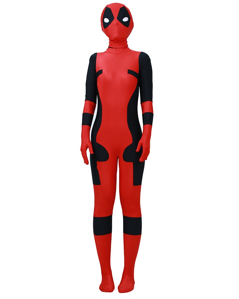 - 51f0KuCaO 2BL - Miccostumes Boy's Red and Black Anime Cosplay Lycra Jumpsuit Including Mask