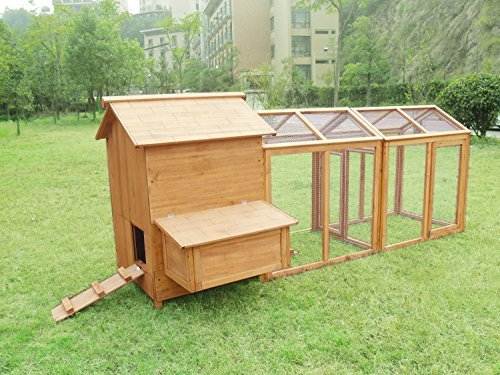MCombo 0319 Deluxe Large Chicken Poultry Coop Hen House Hutch Cage by MCombo