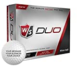 Wilson Staff Duo Personalized Golf Balls - Add Your Own Text (12 Dozen)