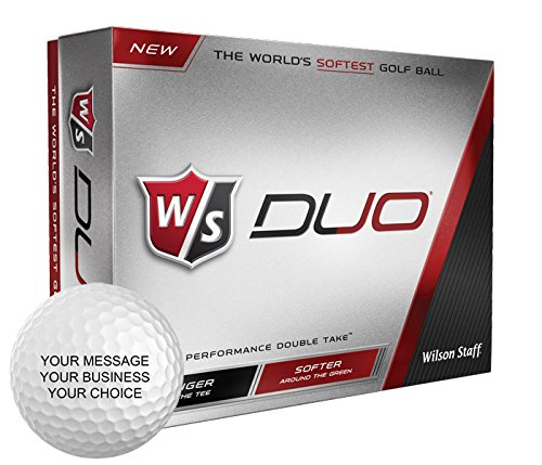 Wilson Staff Duo Personalized Golf Balls - Add Your Own Text (12 Dozen)