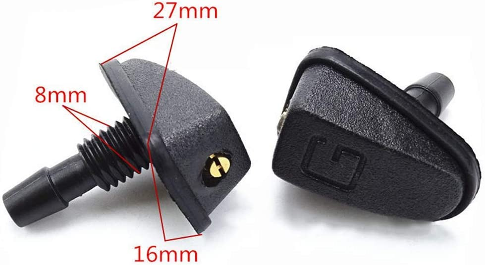 2x FRONT WINDSCREEN WASHER JET NOZZLE FOR SEAT ALAHAMBRA *NEW*