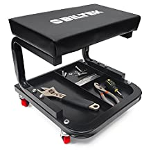 Biltek Creeper Seat Mechanics Rolling Work Stool Chair Auto Work Shop Garage Gear Tray