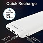 Portronics POR-1110 Power PRO 10K 10000mAh Power Bank with Dual Output Emergency Mobile Charger(White)