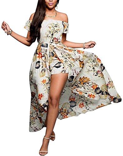 Halter Floral Tube Dress Top - 3