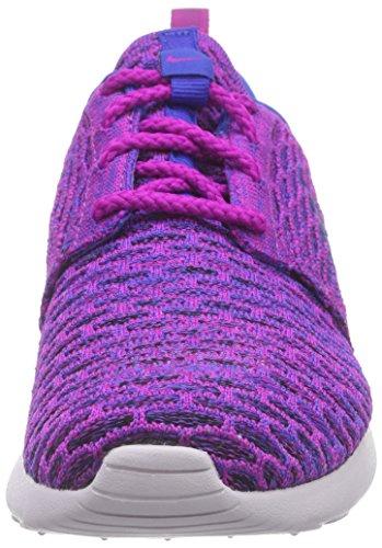 Nike Womens Roshe One Flyknit Scarpa Da Corsa Fuschia Flash / Gm Royal-blk-vnc