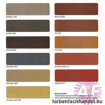 Sockelfarbe Haus pufas dachfarbe und sockelfarbe sandstein 954 5 liter amazon de