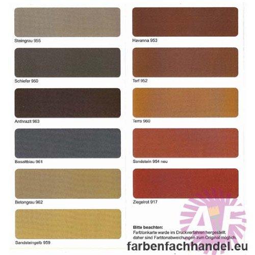 Pufas Dach- und Sockelfarbe 5 L Farbe: Steingrau 955 Dachfarbe
