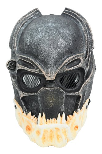 FMA New Wire Mesh Alien Vs Predator AVP Alien King Full Face Protection Paintball Mask ()